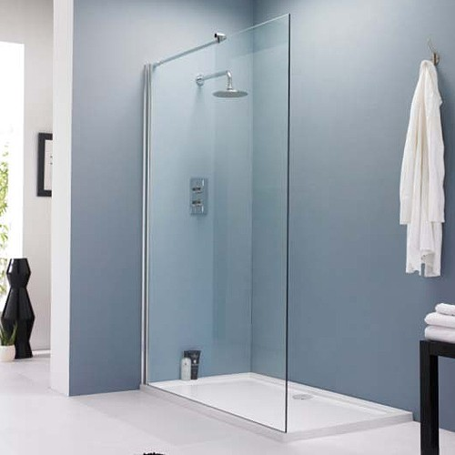 Premier 8mm Wet Room Screen including Wall Brackets