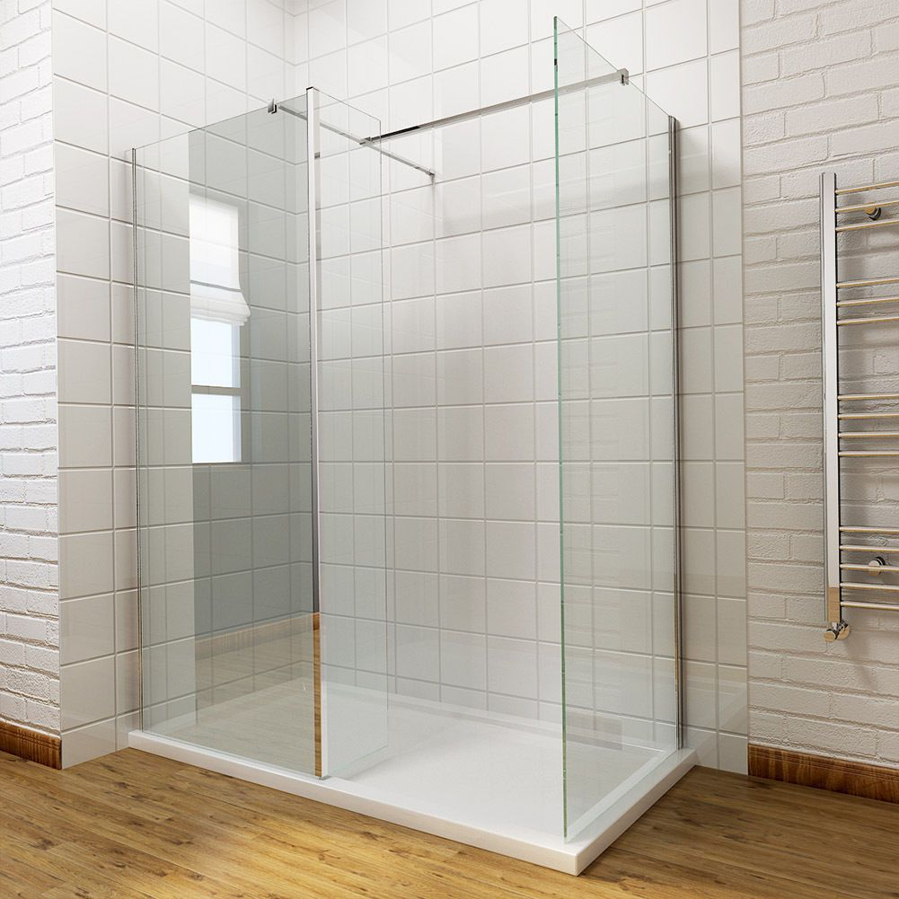 Wet Room Shower Enclosure Walk In Cubicle Screen Return Panel
